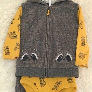 Carter's Raccoon Fleece Set